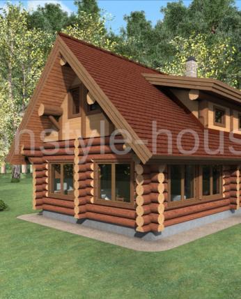 Проекты деревянных комбинированных домов Hybrid (Гибрид)